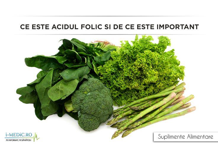 Din cadrul vitaminelor B, acidul folic este una dintre cele mai importante. Acidul folic mai este cunoscut si ca vitamina B9. Aceasta este o vitamina solubila in apa ce se gaseste in mod natural in anumite alimente. Vitamina B9 sau acidul folic este esential pentru mentinerea starii de sanatate. http://www.i-medic.ro/diete/suplimente/ce-este-acidul-folic-si-de-ce-este-important