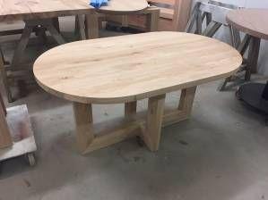 Eettafel ovaal eikenhout modern licht rustiek