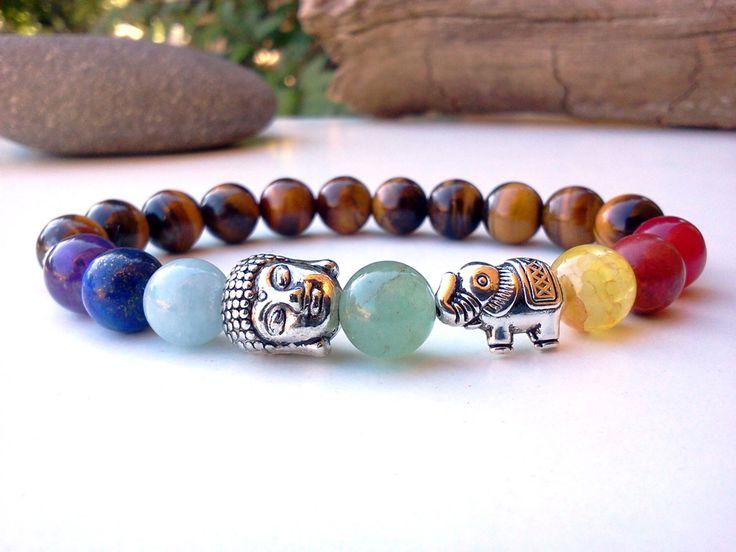 Elephant Buddha bracelet, Chakra bracelet, Elephant bracelet, Buddha Elephant bracelet, 7 Chakra bracelet, Yoga bracelet, Meditation,Stretch by SoCutiful on Etsy https://www.etsy.com/listing/188283376/elephant-buddha-bracelet-chakra-bracelet