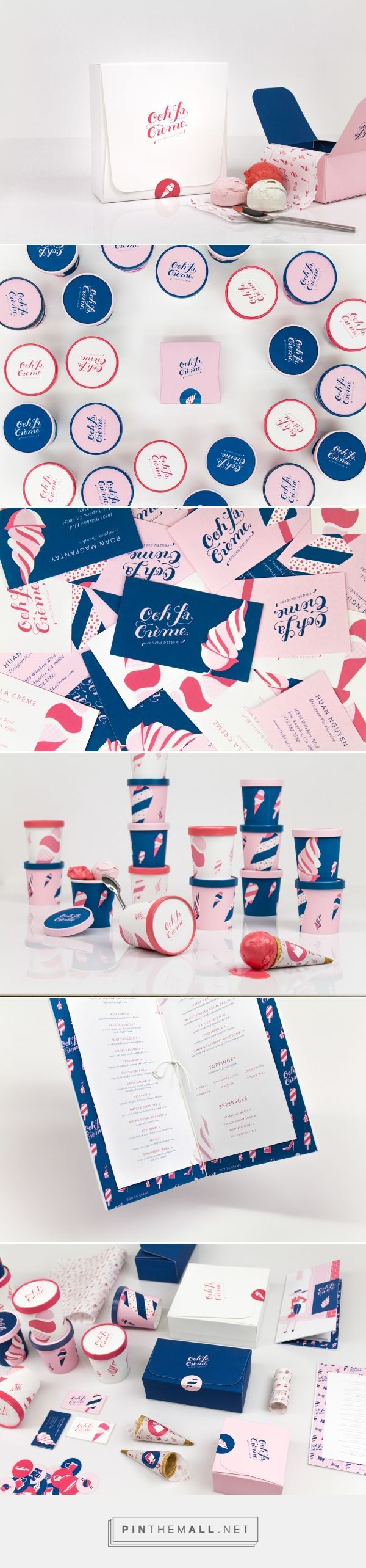 Ooh La Creme Ice Cream Shop Branding and Packaging by Huan Nguyen | Fivestar Branding Agency – Design and Branding Agency & Curated Inspiration Gallery