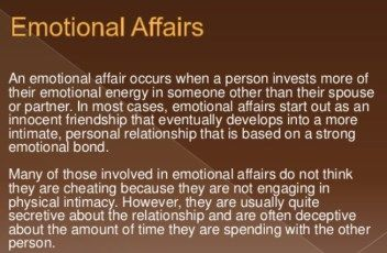 How To Stop Having An Emotional Affair