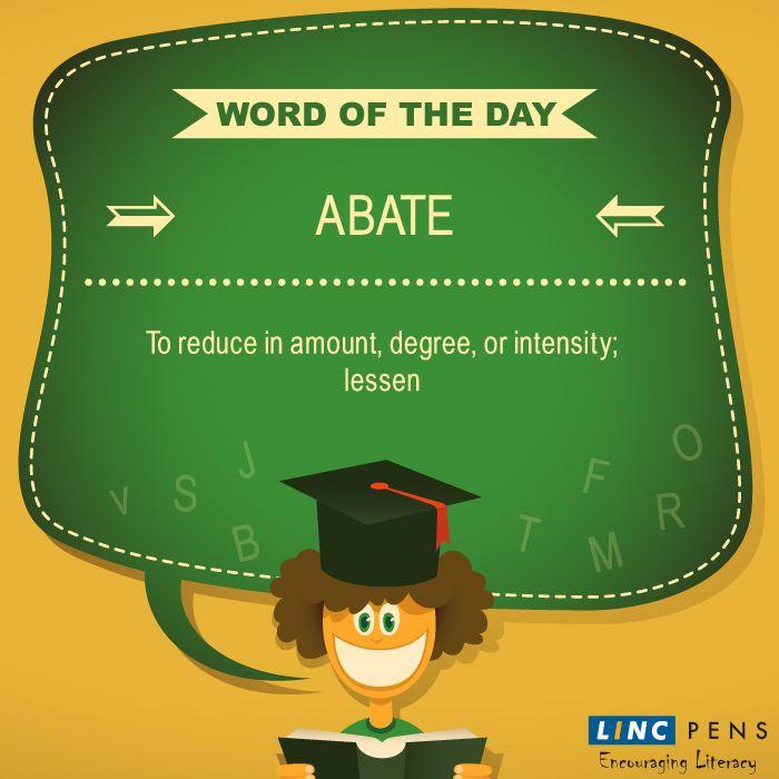 #Abate #WordOfTheDay