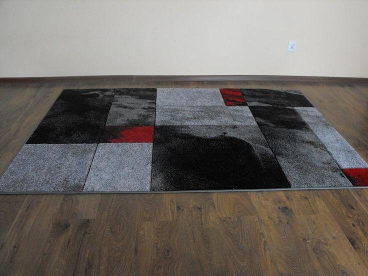 Dywan Fantazja 220x160cm 03 grey red