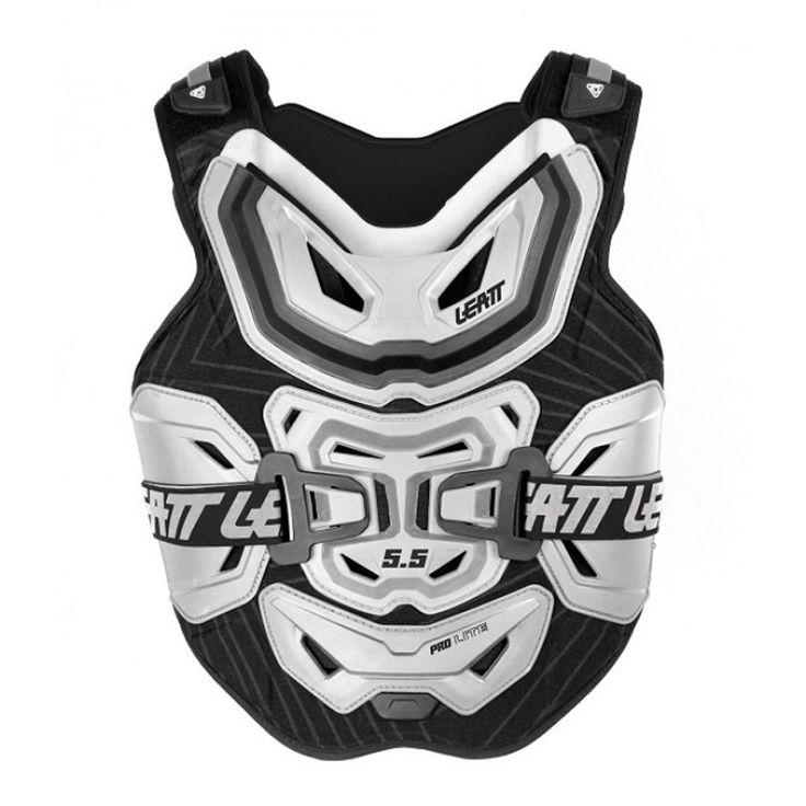 2014 Leatt 5 5 Chest Protector Pro Lite - White Black - 2014 Leatt Body Protection - 2014 Motocross Gear - by Leatt - 2014