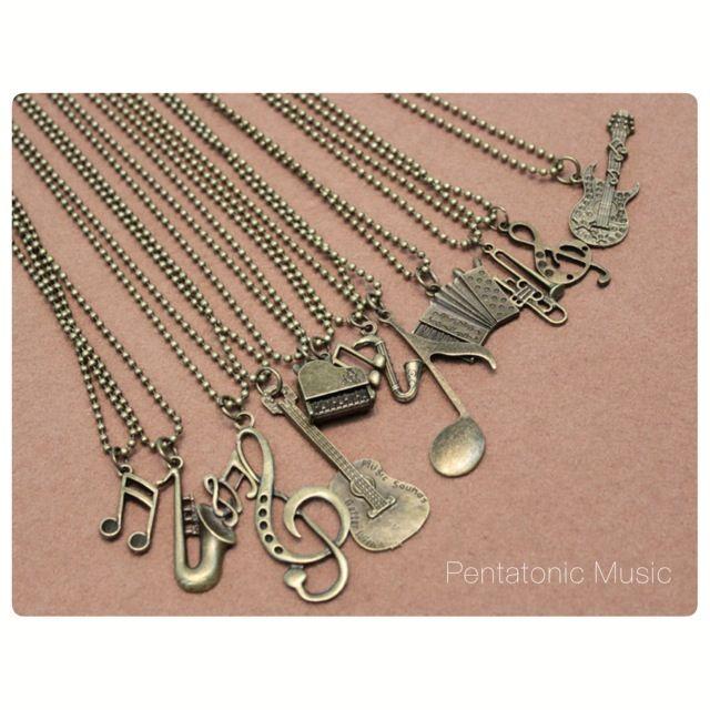 Long Musical Necklace Bronze Price : 38.000 IDR Follow Instagram : pentatonicmusic