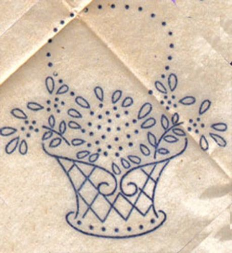 Pretty yet simple flower basket embroidery pattern #embroidery #pattern #vintage