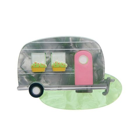 "Erstwilder Limited Edition Happy Glamper Brooch. ""This most mobile of homes provides comfort wherever it may be you roam."