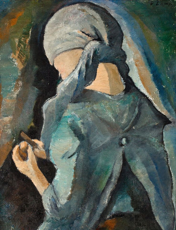 The Potato Peeler. Vilho Lampi (1898-1936). Oil on...