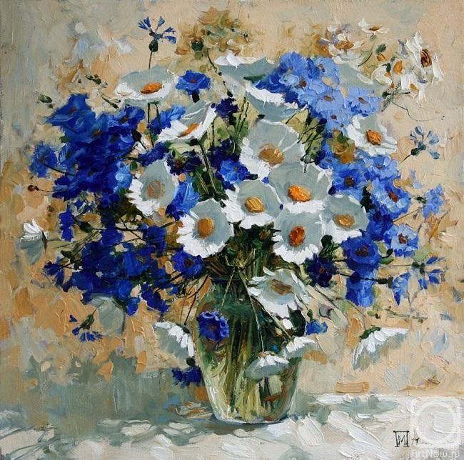 Волошки, колокольчики,лето... / пейзаж, цветы, времена года, лето, живопись, художники, волошки, колокольчики, из сети