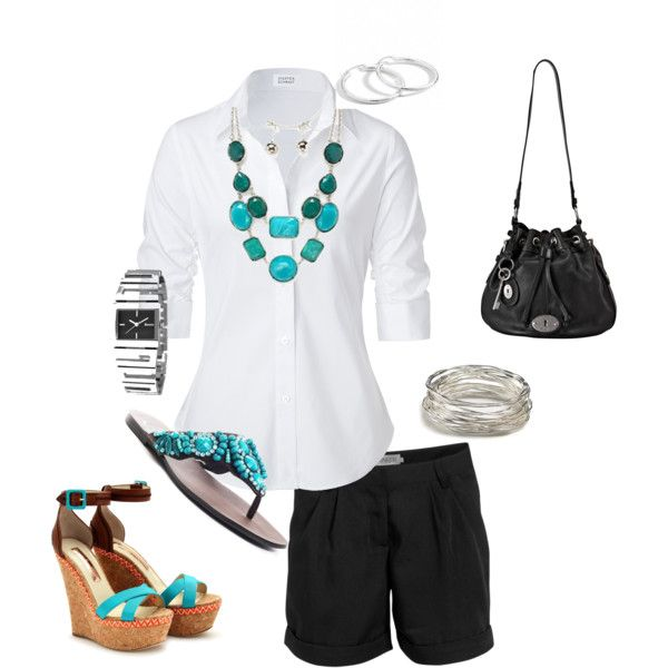 Love this classy summer work to evening outfit