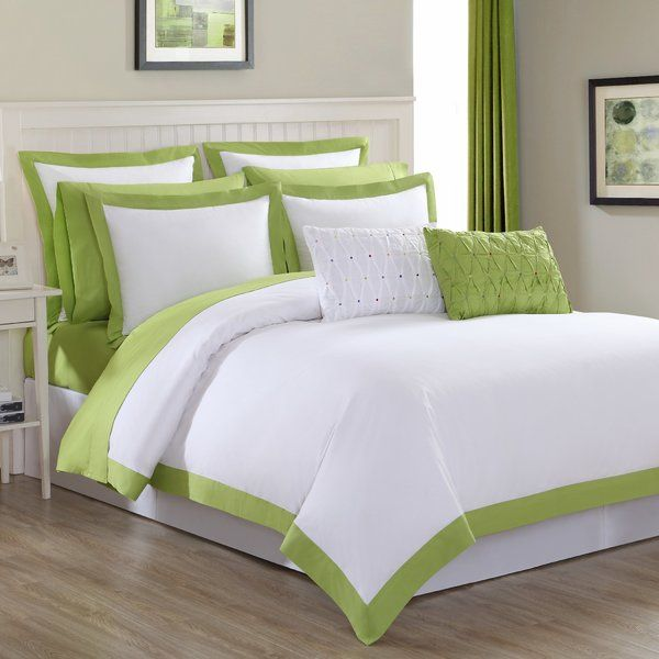 Add a cool, casual style to your bedding with the Fiesta Classic Duvet Cover Set. Adorned with a classic, colorful trimming, the ultra-soft, white duvet cover instantly adds an effortless crisp and clean feel to your bedroom.
