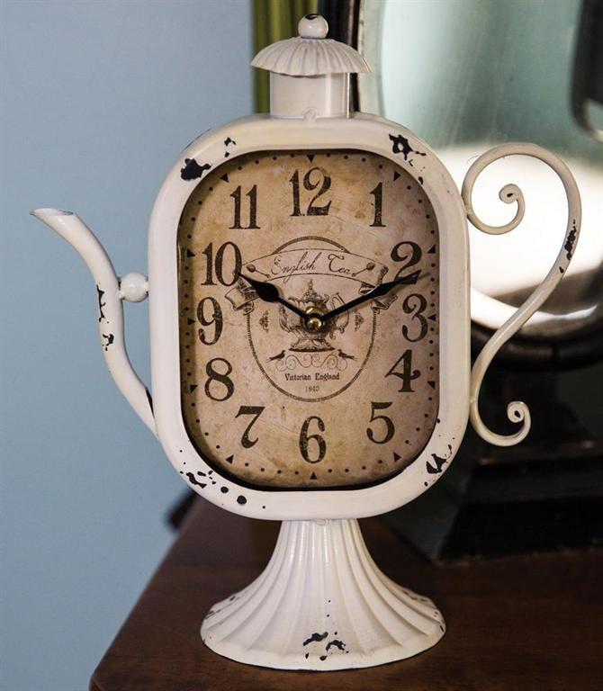infinity symbol teapots | Teapot Cream Mantel Clock