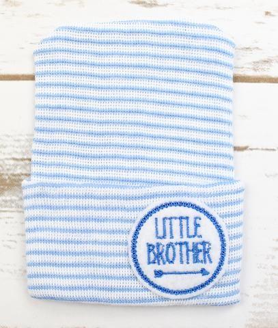 Little Brother Hospital Hat #hospitalhat #newborn #baby #newbornphotos #babyboutique #babybeanie