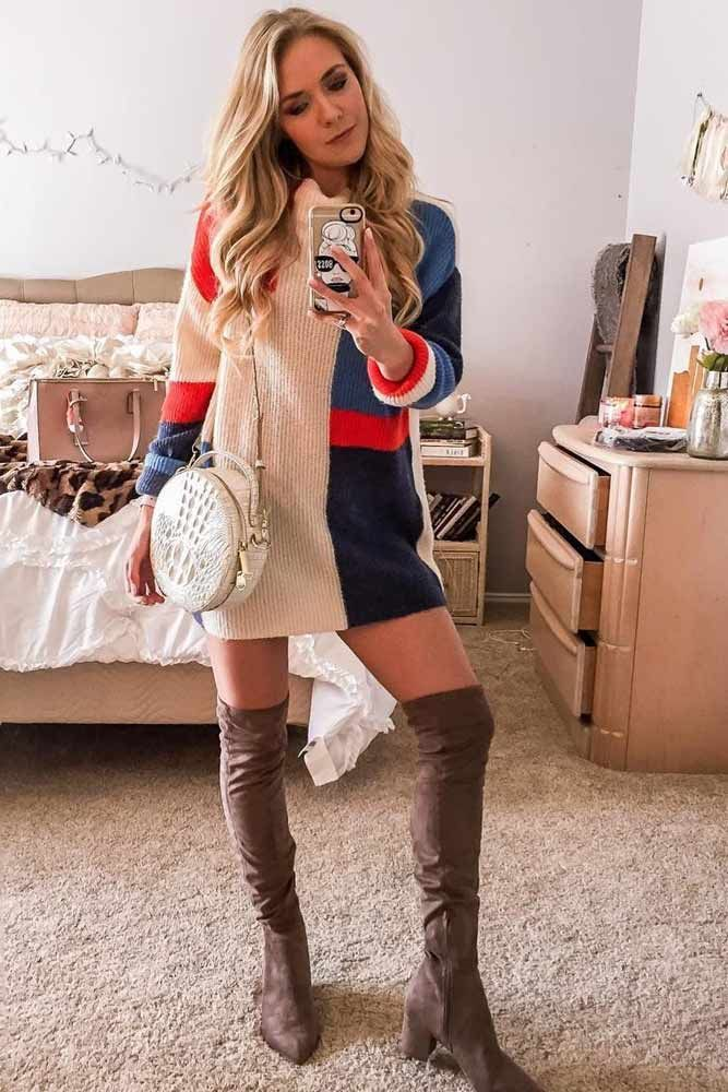 1dfcc481fab 18 Inspiring Ideas How To Rock A Sweater Dress On Daily Basis