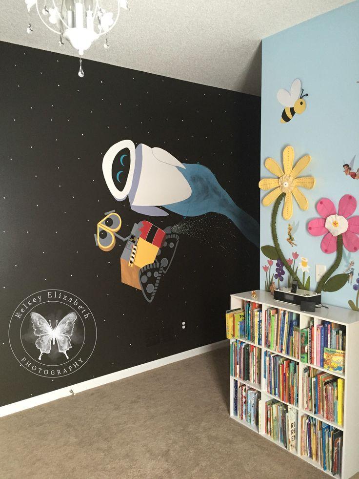 Pixar Wall-E Mural; Wall-E bedroom; Disney bedroom; Disney ...