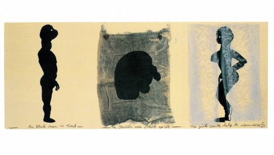 Marlene Dumas, The Black Man, the Jew, and the Girl, for Parkett 38