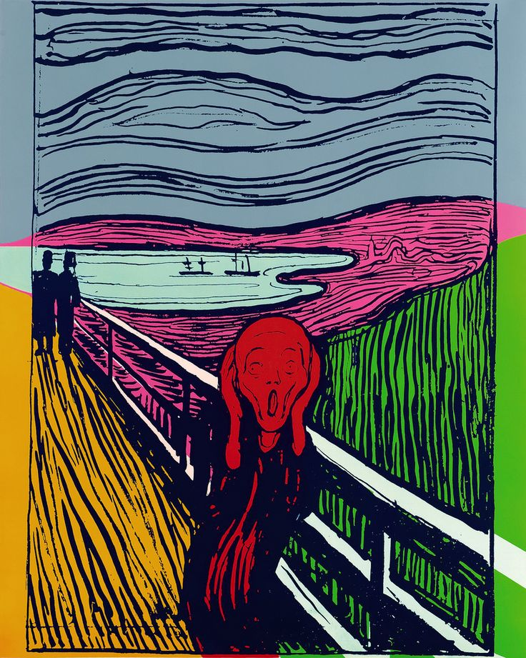 Andy Warhol's The Scream (After Munch), 1984