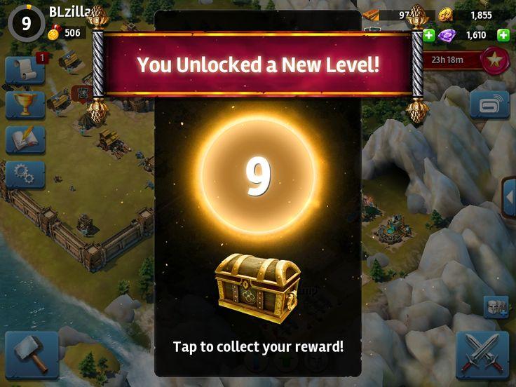 Siegefall | Tycoon Phase | XP Progression | UI HUD User Interface Game Art GUI iOS Apps Games | Gameloft | www.girlvsgui.com