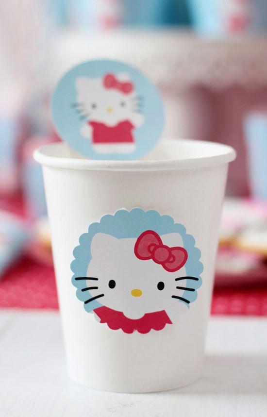Pegatinas cumpleaños Hello Kitty