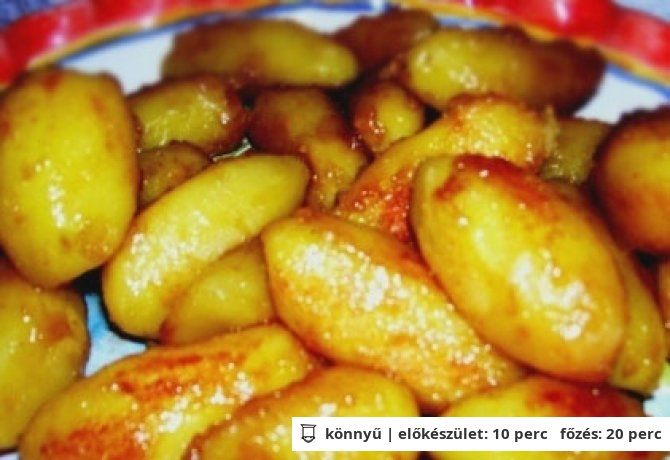 Karamellel sült krumpli