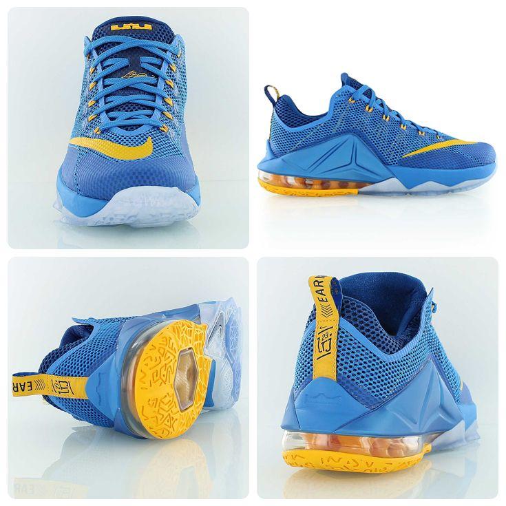low priced 24005 8e4f1 Nike LeBron 12 Low  Entourage  Photo Blue University Gold Gym Blue.