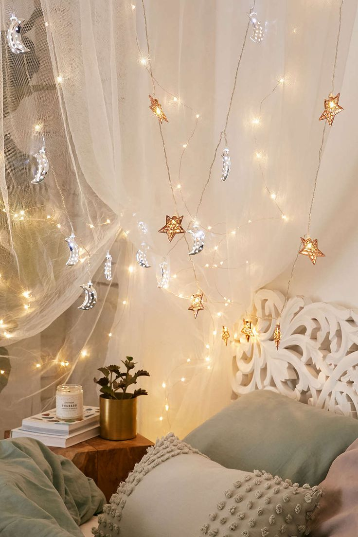 Bedroom ceiling lights stars - Copper Star String Lights