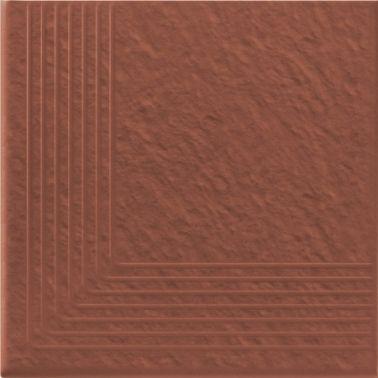 Element colt trepte klinker cu  striatii antiderapante 30×30 Simple Red 3d Opoczno  Element colt trepte klinker antiderapant cu striatii cu dimensiunea de 30×30 cm de culoare rosu caramiziu ce poate fi folosita pentru placarea scarilor interioare cat si exterioare. Suprafata fina si culoarea maro clasica pentru terase exterioare dau valoare acestui model klinker in foarte multe tipuri de amenajari. Un produs foarte rezistent la inghet. #klinker #elementcolt #colttreapta