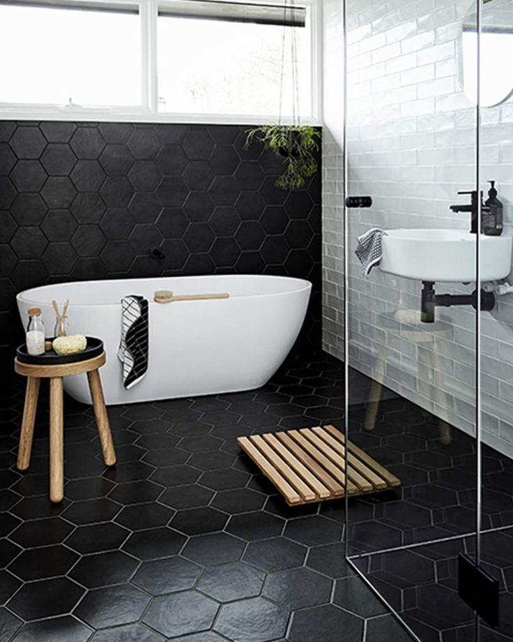 8 idées déco pour utiliser le noir dans la salle de bain