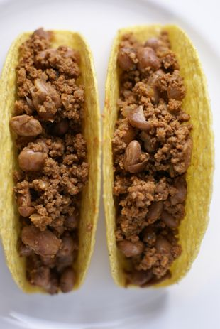 bean and beef tacos Stretching the Protein in your Dinner   Beef and Bean Tacos