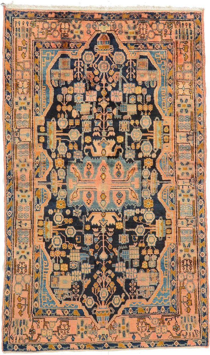 Navy Blue 4' 8 x 7' 10 Nahavand Rug   Persian Rugs   eSaleRugs