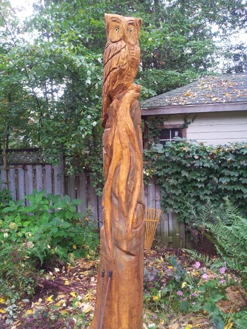 Carving dead tree stump google search the garden