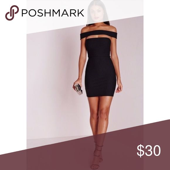 NWT Missguided Cut Out Panel Bardot Dress US 8 PETITE • Originally $51 • open to reasonable offers Missguided Dresses
