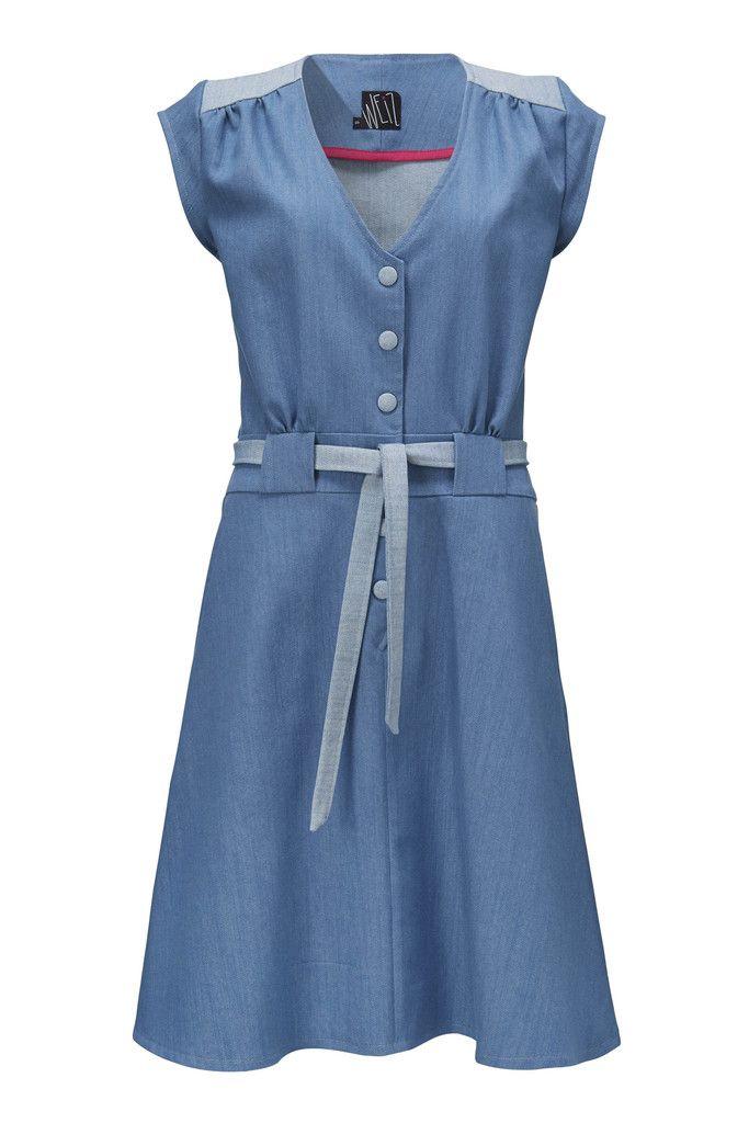Christel kjole i lysblå denim. Totalt yndlings kjole medp perfekt pasform