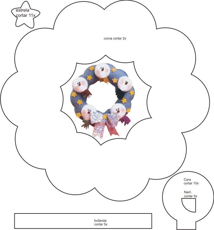boneco de neve de feltro passo a passo - Buscar con Google
