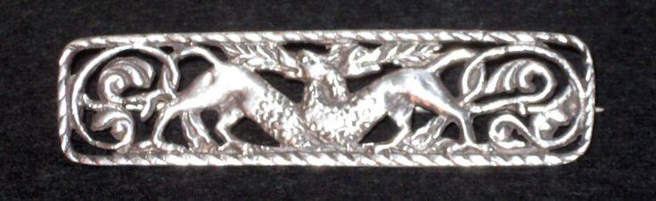 Neo-Gothic VTG Mythic Dragon Lion Sterling Silver Brooch Pin cf Game of Thrones    eBay
