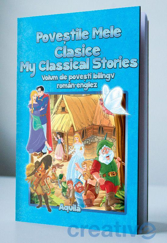 Volum de povești biling român-englez, pentru copii.