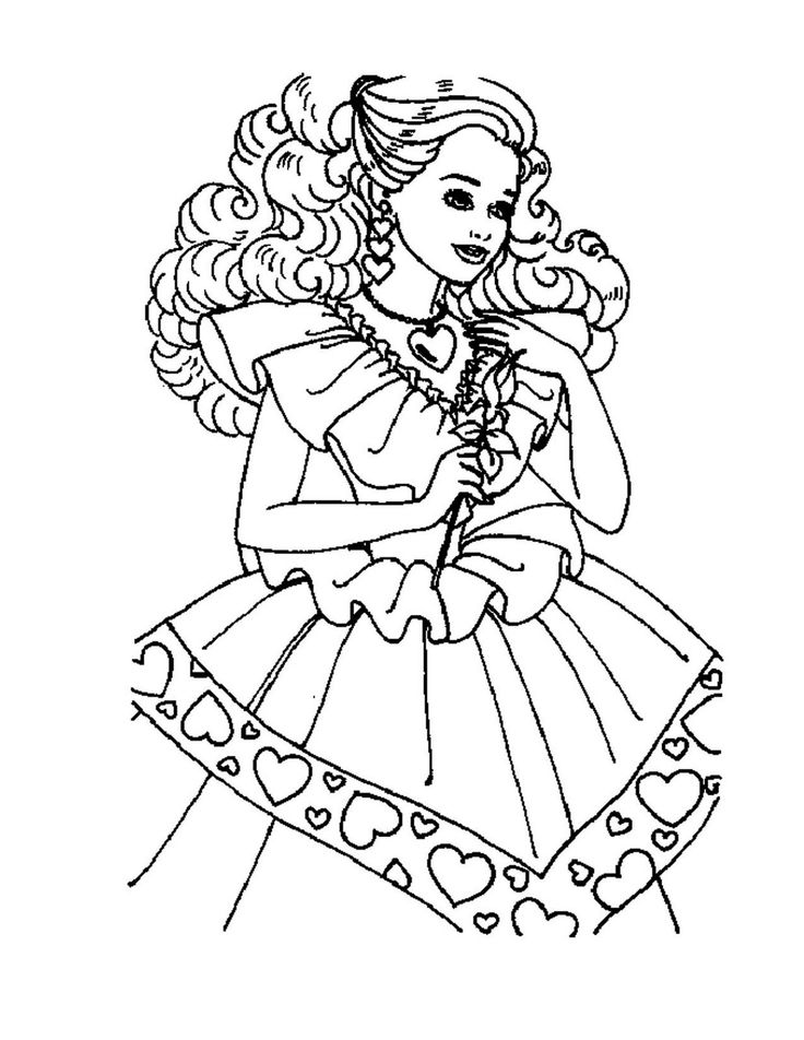 Barbie Princess Party Coloring Pages Doll Invitations Project Ideas