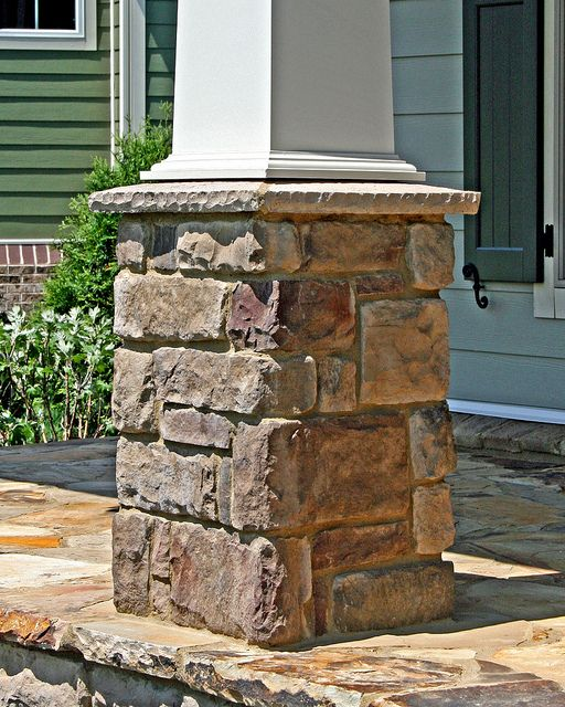 Artisan Stone Front Porch Post