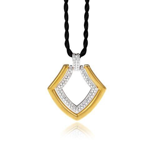 New Diamond Spirit pendant in 18ΚΤ yellow and white gold with diamonds.