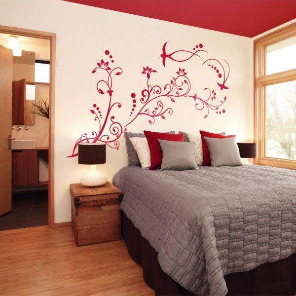 arabesque wall sticker autocollant mural flore flora. Black Bedroom Furniture Sets. Home Design Ideas