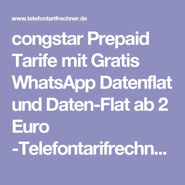 congstar Prepaid Tarife mit Gratis WhatsApp Datenflat und Daten-Flat ab 2 Euro -Telefontarifrechner.de News