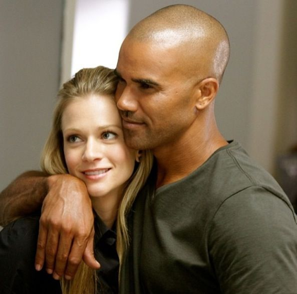 AJ Cook and Shemar Moore