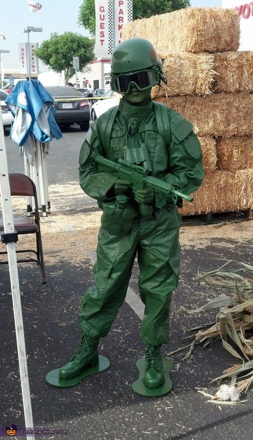 Angelica: This is my 10 Year old daughter wearing the costume. She wanted to be a character from Toy Story, and she liked this plastic army man best. How to make...