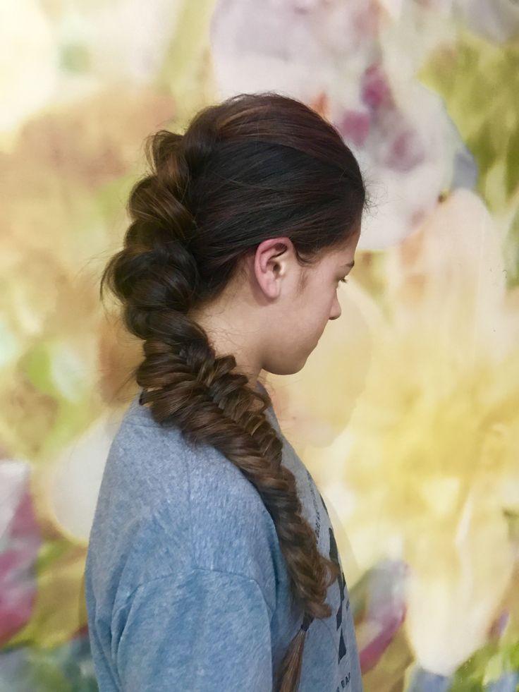 Ball hair , long hair  Braids , plaits, fish tails