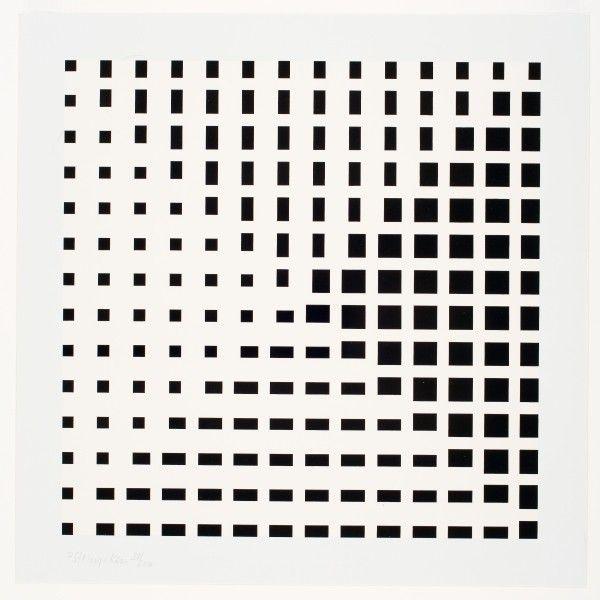 Simpele compositie van verschillende grootte vierkantjes bij elkaar