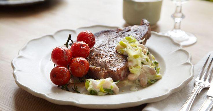 Italieninspirerat med kalvkotlett .