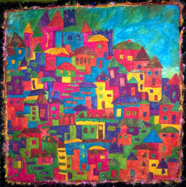 happy villages quilt - so vibrant
