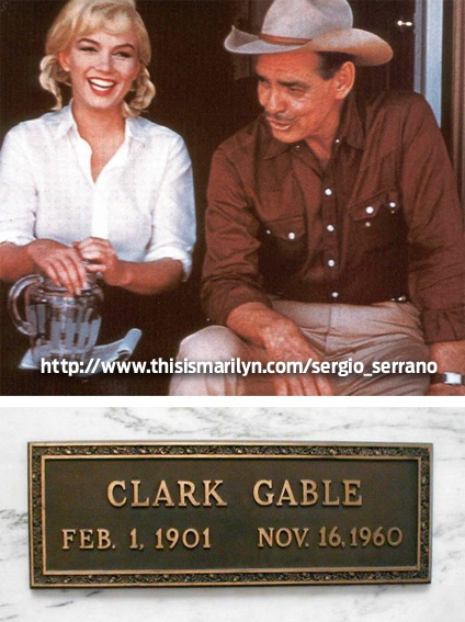 """Clark Gable  (Actor) Died filming the """"The Misfits"""" with Marilyn Monroe"""