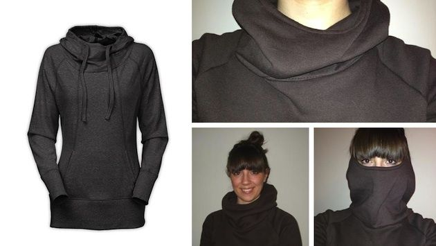 exaggerated_cowl_hoodie free pattern; looks like ice breaker athena funnel!