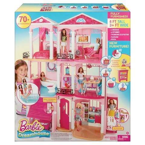 2016 Barbie Dreamhouse - Dream House Furnished Elevator Garage Pool 7 Rms 3 Floors Aquarium